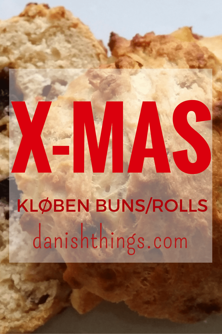 Kløbenboller - kloeben buns or kloeben rolls - The delicious fatty, sweet Christmas bun filled with butter and dried fruit - what's not to like! Find the recipe @ danishthings.com