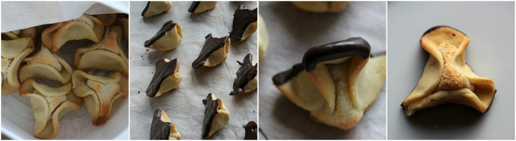 Napoleon's hat - a classic Danish shortbread cake shaped like a triangular hat filled with marzipan - find the recipe at danishthings.com © Christel Danish Thing