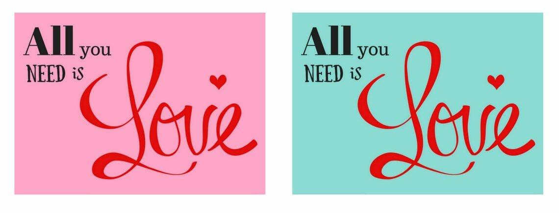 Gratis Valentine kort - kærlighed - find inspiration og gratis print på danishthings.com © Christel Danish Things